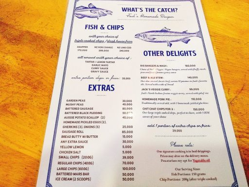 union jack's menu