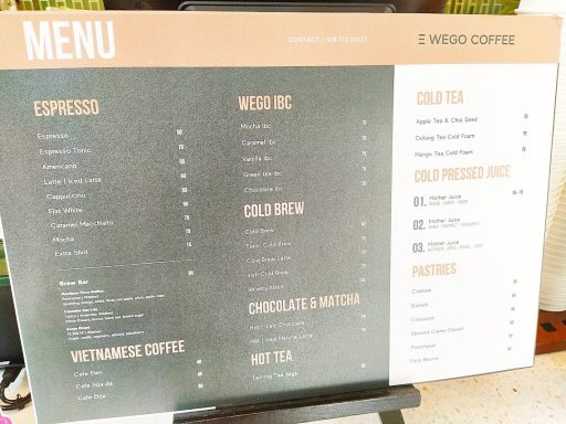 wego coffee menu